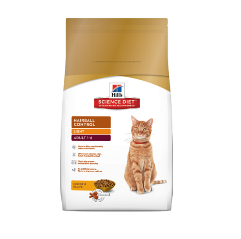 Adult Hairball Control Light 3,17 Kg
