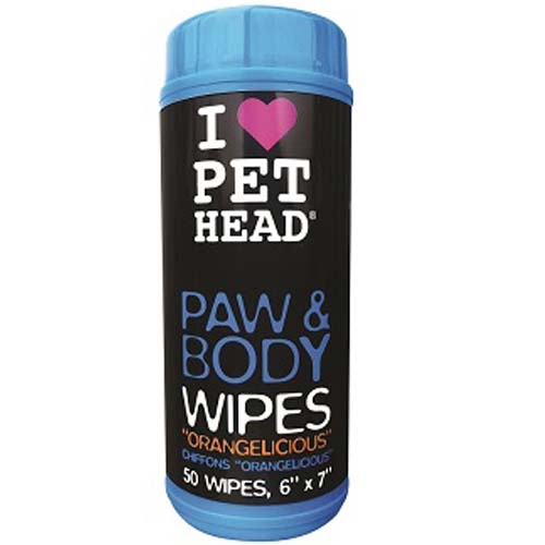 Paw and Body Wipes Orangelicious (50 unidades)