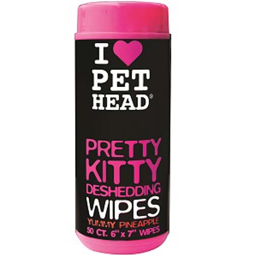 Pretty Kitty Deshedding Wipes (50 unidades)
