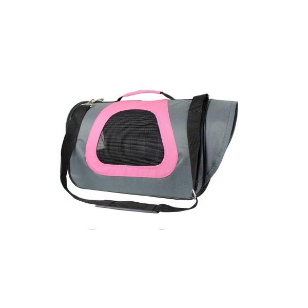 Bolso Cabina Rosado/Celeste 34x21x22 Cm