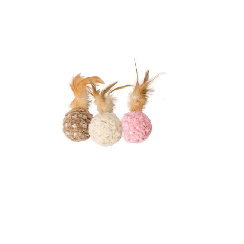 Cat Toy Chenille Chasers Pluma/Bola
