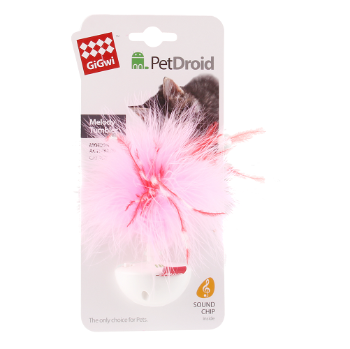 Wobble Feather Pet Droid Con Pluma Natural y Sonido